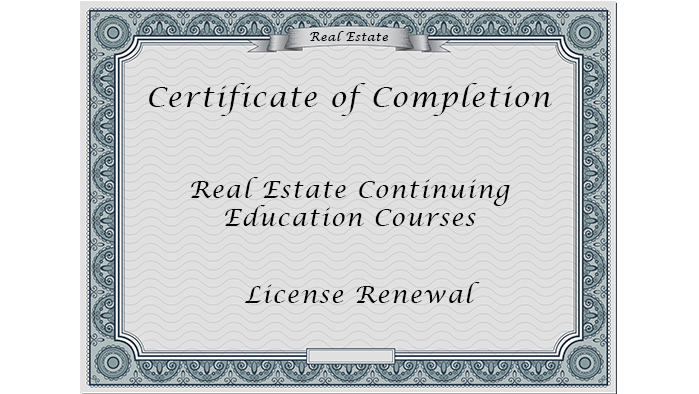 Bale, CA Real Estate License Renewal
