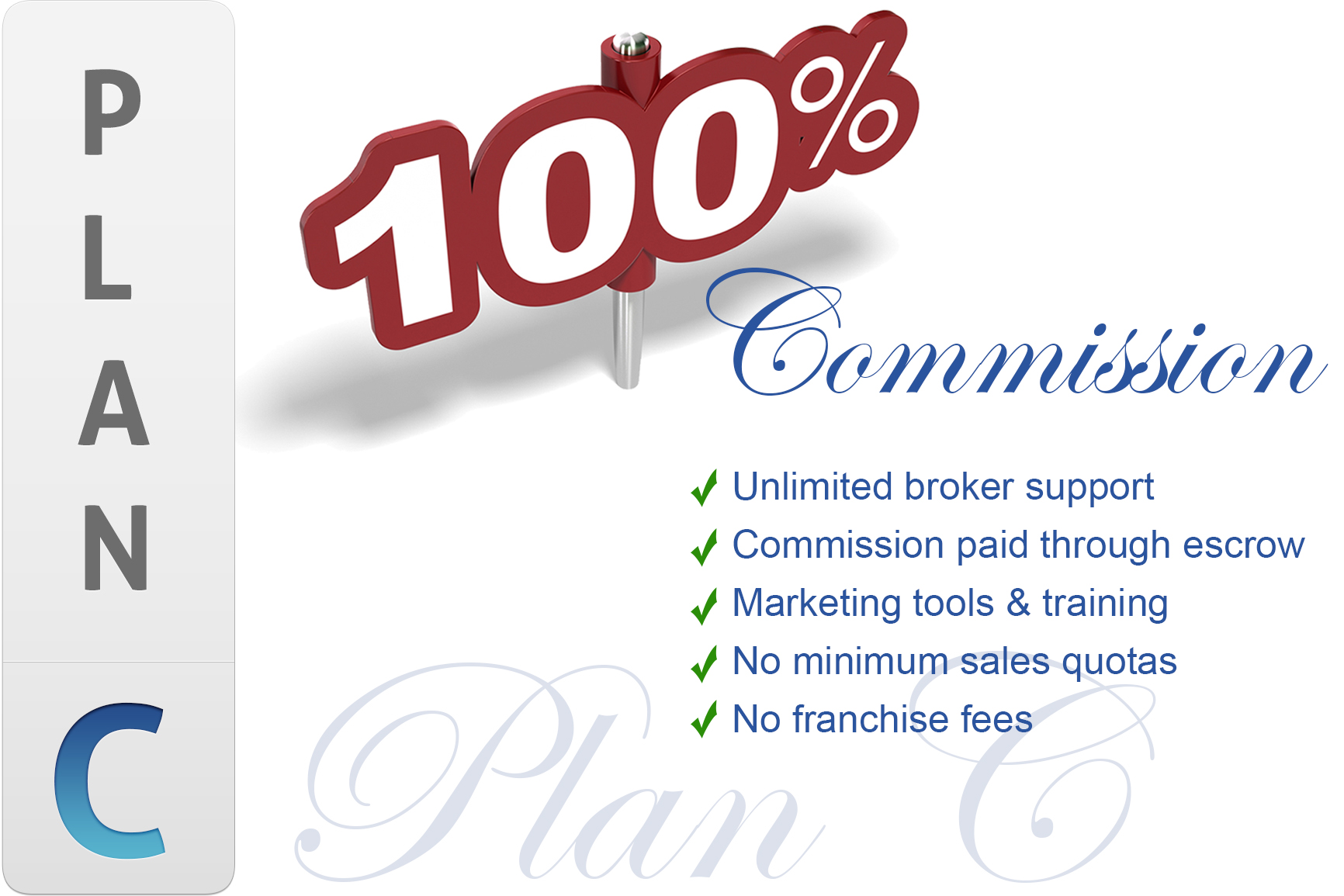 Monthly Fee 100% Commission Program